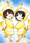 L and BB are Pikachu by BiancaEmoRapinRocker