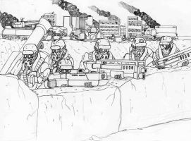 Defend the town by Steel123