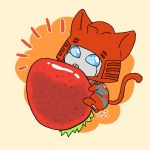 Cliffer and a strawberry by umitaro