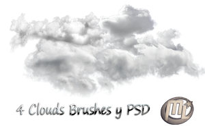 Brushes Clouds y PSD by Maryneim