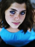 Blue Eyes And Freckles by justina-m