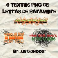 PARAMORE TEXT PNG by justaghoost