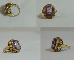 Ring purple set by DemonsChain-Stock