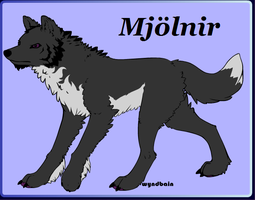Mjolnir the Wolf by PiccoloFreakNamick