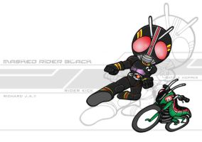 Masked Rider Black KUYA ROBERT by the-tracer