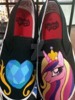 Hand Painted Kids Shoes Princess Cadance by PonyCandles