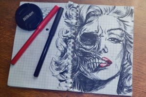 Marilyn Monroe by kichinez