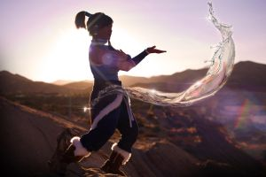 Korra Cosplay - The Element of Change by eloquium