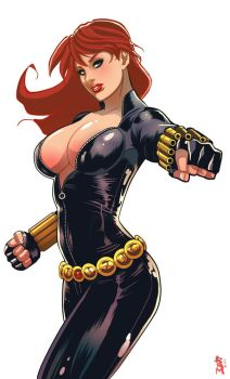 Black Widow Color by RamArtwork