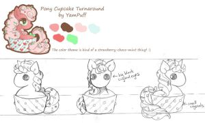 Cupcake Pony Turnaround Contest Entry by YamPuff