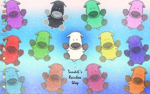 Rainbow sheep Desktop by tasuki6