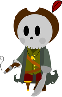 Chibi Skeleton Pirate Captain by adrius15