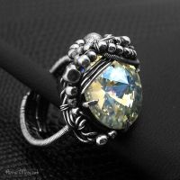 WRAPPED CRYSTAL - ring I by AnnaMroczek