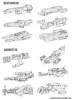 Small Warship Thumbnails by MikeDoscher