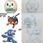 Pokemon Sun and Moon starters by JK-Antwon