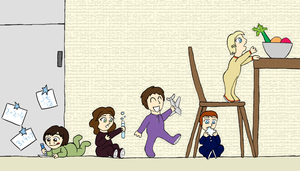 Doctor Who - Baby Team Fivey by PrincessHannah