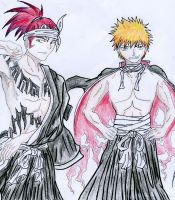 Bleach Ichigo and Renji by La-gato-negro