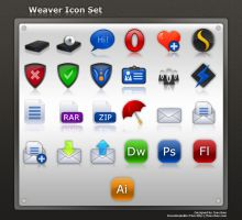 Weaver Icon Set by Tooschee