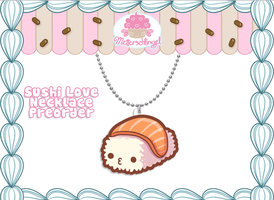Sushi Love Necklace PREORDER by Metterschlingel