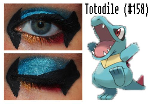 Pokemakeup 158 Totodile by nazzara
