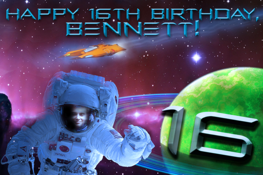 Birthday Card for Bennett by Pennywithaney