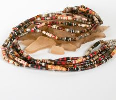 Autumn Paper bead Necklace by secrets-of-the-pen