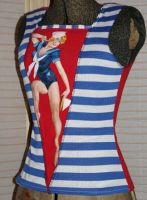 pin-up sailor top by smarmy-clothes
