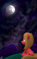 Pun Staring at the Moon by SymbianL