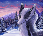 Snowy forest by Aymea
