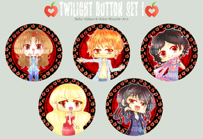 Twilight Button Set I by DyMaraway