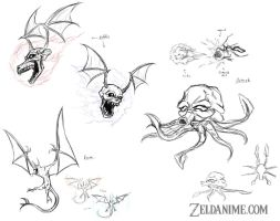 Monsters - Concept Sheet by OniChild