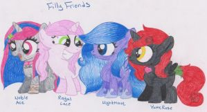 Filly Friends by LunaMoonCat