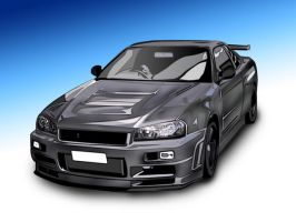 nissan skyline Tune by ronaldesign