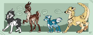 Adoptables part 2 by Nekoshiba