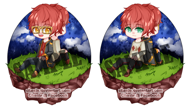 [Mystic Messenger] Choi Bros by Chesle