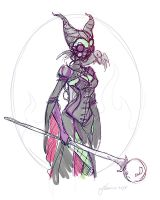 Steampunk Maleficent Sketch Idea by NoFlutter