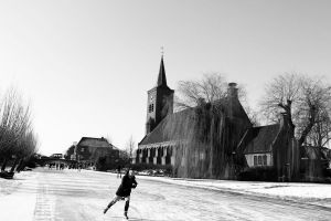 Ice skating in holland 2 by CiindyCore