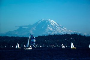 Mt Ranier from Madison Park by photoscot