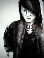 BVB- Ashley Purdy Pen Drawing by mokaart