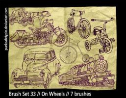 Brush Set 33 - On Wheels by punksafetypin