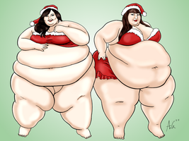 Festive Fatties: Ash and Kellie Kay by Ray-Norr