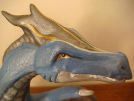 Blue Dragon (close-up) by MidnightTiger8140