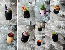 Mini Sushi Ornaments by Jonisey
