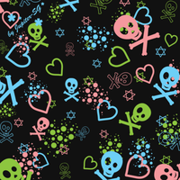 Kawaii skull brushes by Jupiter-SG