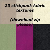 23 Stitchpunk Fabric Textures by catgirl123