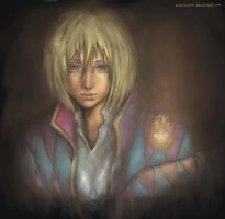 Howl and Calcifer by mirukawa