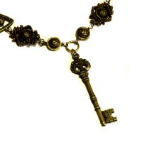 Steampunk Brass Key Necklace by CatherinetteRings
