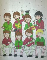 Happy Holidays From The Beatles and The Monkees :D by RockyToonzComics