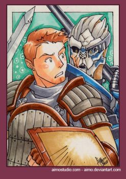 PSC - Alistair and Garrus by aimo