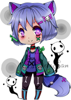 Kemonomimi  ghost adoptable open new specie by AS-Adoptables